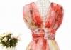 Western Style Organza High Waist Casual Dress