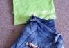 Lady short jean Size: 30 4$  T-shirt 3$